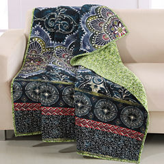 Barefoot Bungalow 100% Cotton Twyla Reversible Throw