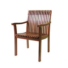 Outdoor Interiors Venetian Deluxe Arm Chair in Eucalyptus