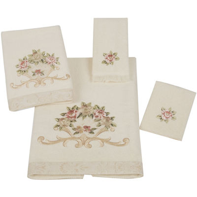 avanti rosefan ivory bath towels - Fingertip Towels