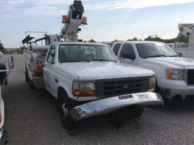 Telsta A28D Telescopic Non-Insulated Bucket Truck On 1997 Ford F350