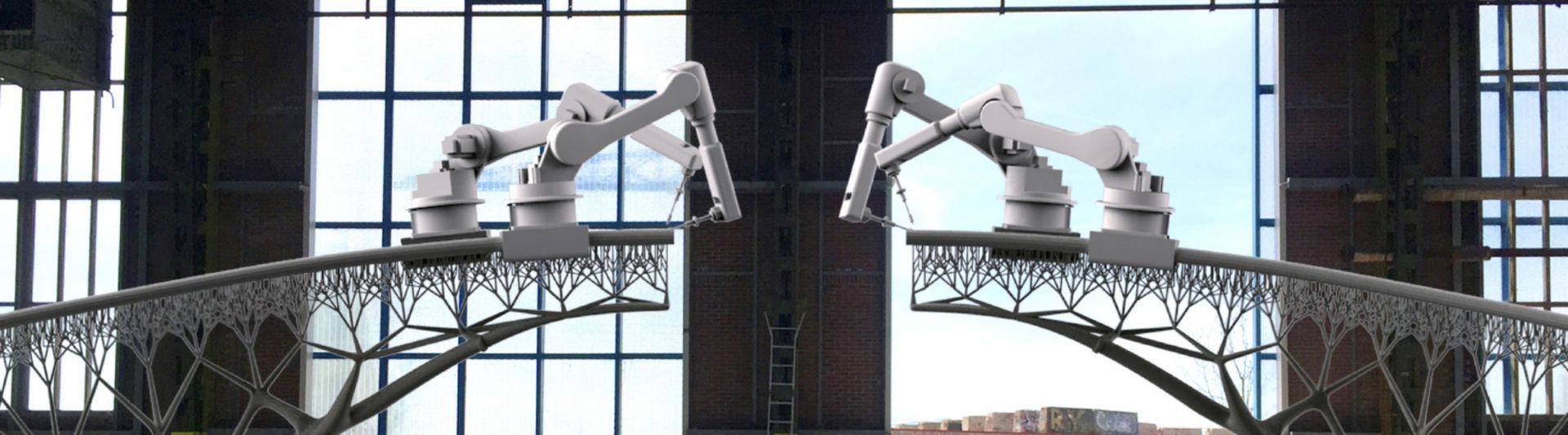 3D printed Steel bridge by MX3D