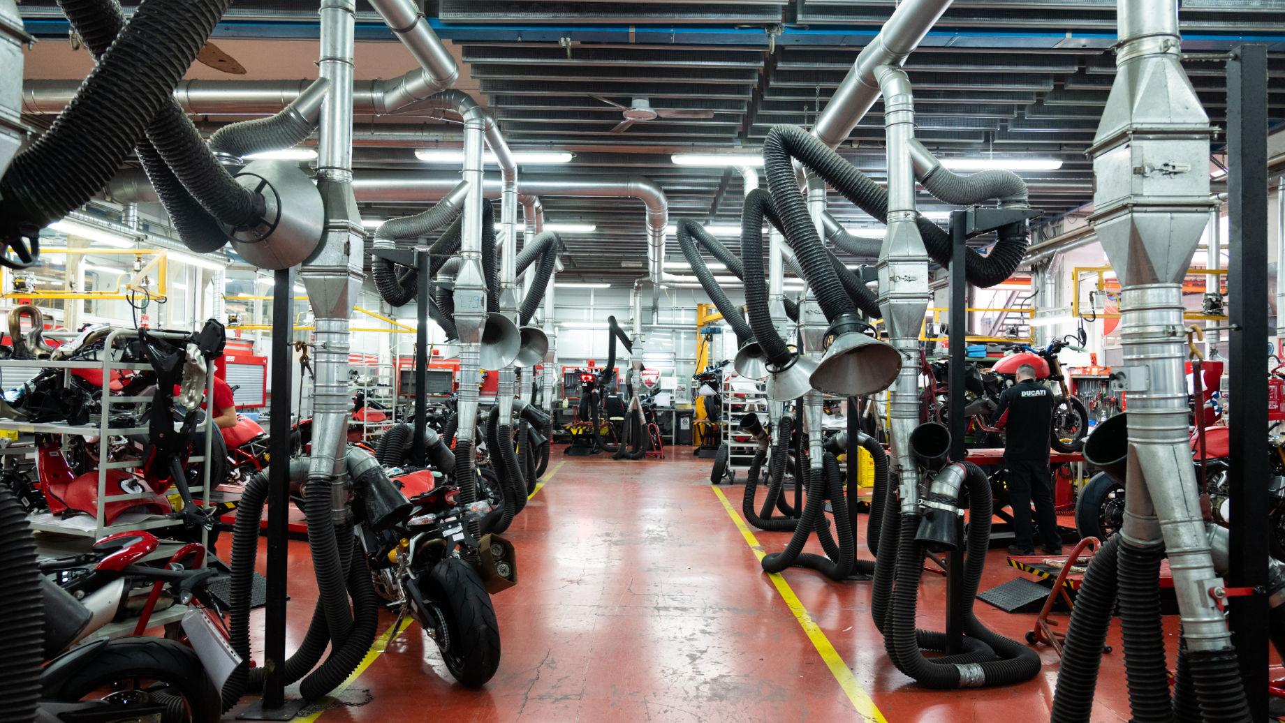 Ducati fatory - Assembly line