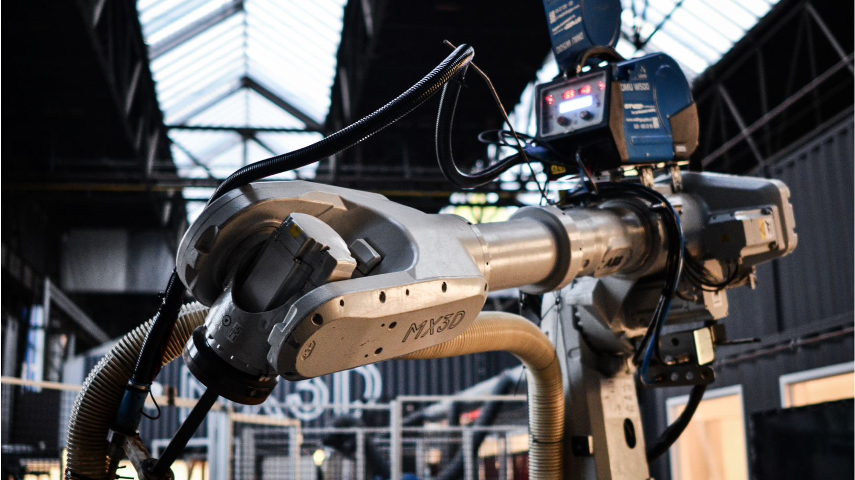Robot Arm used by MX3D for 3D printing.