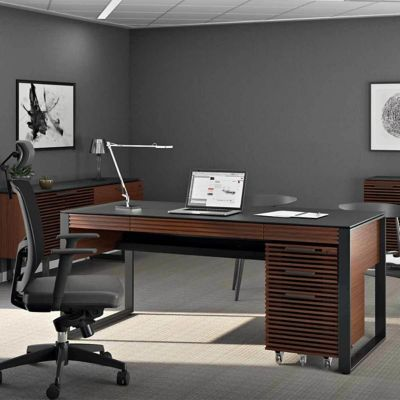 Charmant BDI Corridor Office Executive Desk 6521 | YLiving.com