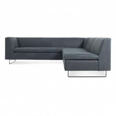 Blu Dot Bonnie And Clyde Leather Sectional Sofa | YLiving.com