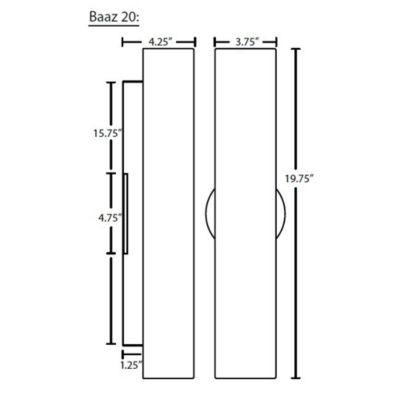 besa lighting baaz 20 outdoor wall sconce ylighting com