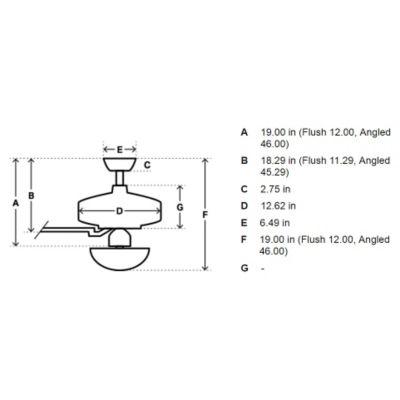 stingray ceiling fan diagram