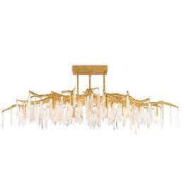 Miraculous Forest Light Semi Flushmount Bralicious Painted Fabric Chair Ideas Braliciousco
