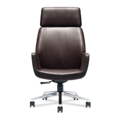 A Bindu High Back Executive Chair  Espresso Leather