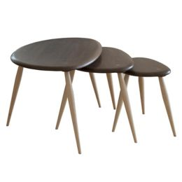 Ercol originals nest tables yliving originals nest tables walnutbeech watchthetrailerfo