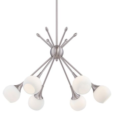 George kovacs pontil 6 light chandelier ylighting mozeypictures Choice Image