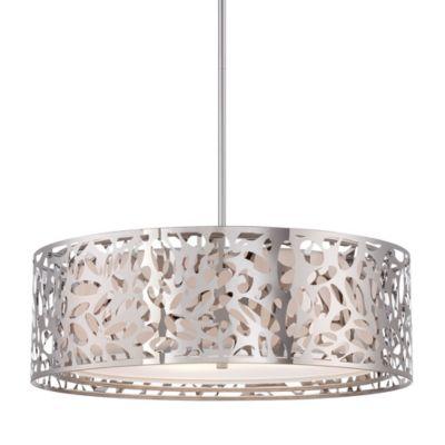 Drum shade pendant lighting Moroccan Pendant Lamp Ylighting George Kovacs Layover Drum Shade Pendant Light Ylightingcom