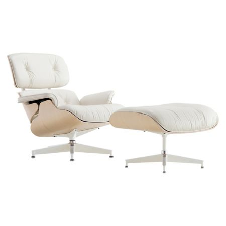 herman miller eames lounge chair with ottomanand white ash yliving com