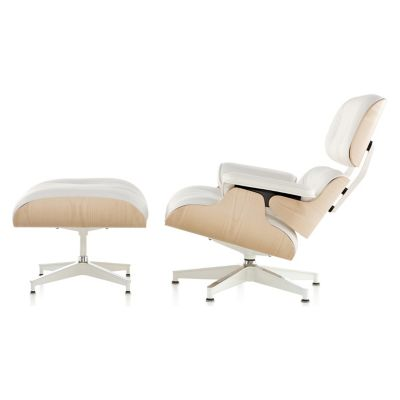 Herman Miller Eames Lounge Chair With Ottomanand White Ash | YLiving.com