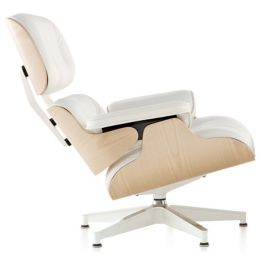 Astonishing Eames Lounge Chair White Ash By Herman Miller At Lumens Com Machost Co Dining Chair Design Ideas Machostcouk