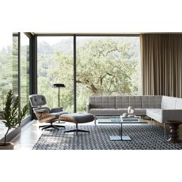 Stupendous Eames Lounge Chair With Ottoman In Mohair Supreme By Herman Caraccident5 Cool Chair Designs And Ideas Caraccident5Info