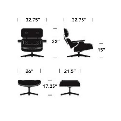 Remarkable Herman Miller Eames Lounge Chair With Ottomanand Mohair Short Links Chair Design For Home Short Linksinfo