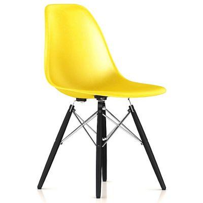 Herman Miller Eames Molded Fiberglass Side Chair With Dowel Base |  YLiving.com
