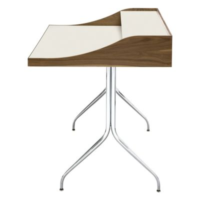 Nelson Swag Leg Desk With Nelson Platform Bench And Eames Molded Plastic  Task Armchair Fully Upholstered
