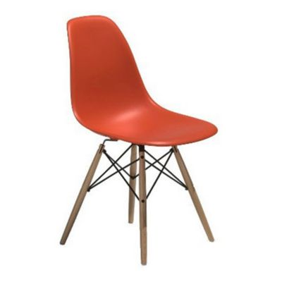 Eames Molded Plastic Side Chair With Dowel Leg Bases