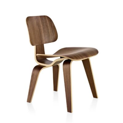 Herman Miller Eames Molded Plywood Dining Chair With Wood Legs | YLiving.com
