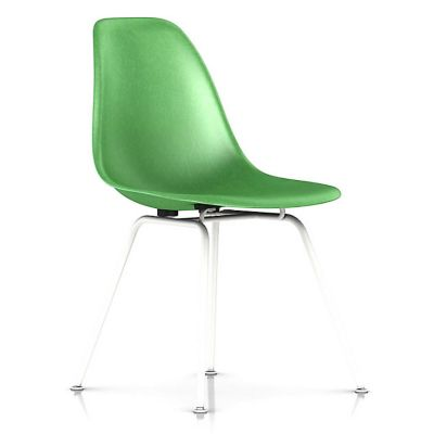 Herman Miller Eames Molded Fiberglass Side Chair With 4 Leg Base |  YLiving.com