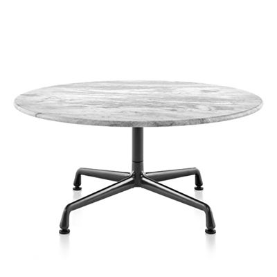 Merveilleux Eames Round Occasional Tables With Universal Base, Outdoor