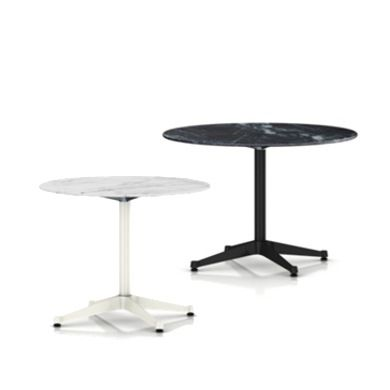Eames Round Dining Tables With Contract Base, Outdoor