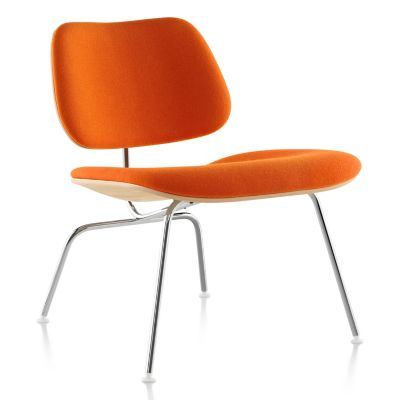 Herman Miller Eames Molded Plywood Lounge Chair With Metal Legsand  Upholstered | YLiving.com