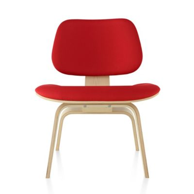 Herman Miller Eames Molded Plywood Lounge Chair With Wood Legsand  Upholstered | YLiving.com