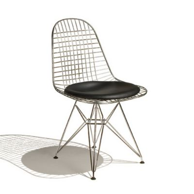 Herman Miller Eames Wire Chair With Leather Seat/Wire Back | YLiving.com