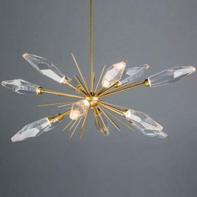 hammerton studio rock crystal oval starburst led chandelier rh ylighting com