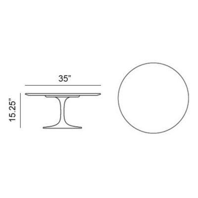 Knoll Saarinen 35.75 Inch Round Coffee Table | YLiving.com