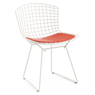 Bon Knoll Bertoia Side Chair With Seat Cushionand Outdoor | YLiving.com
