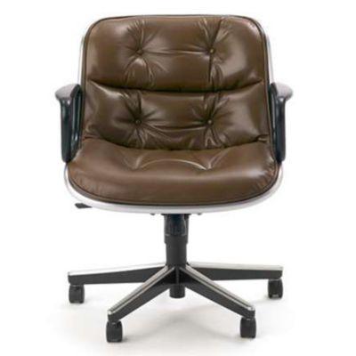 Incroyable Knoll Charles Pollock Executive Armchair With Aluminum Frame | YLiving.com