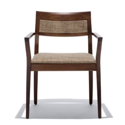 Knoll Krusin Armchair With Upholstered Back Inset | YLiving.com