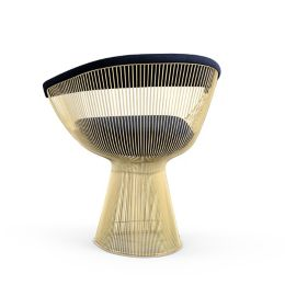 Marvelous Platner Arm Chair In Gold By Knoll At Lumens Com Gamerscity Chair Design For Home Gamerscityorg