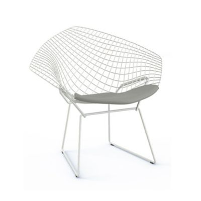 Knoll Bertoia Two Tone Diamond Chair With Seat Cushion | YLiving.com