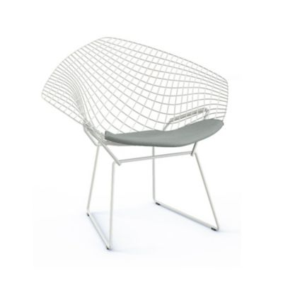 Superbe Knoll Bertoia Two Tone Diamond Chair With Seat Cushion | YLiving.com