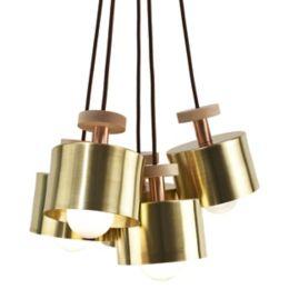 Ladies and Gentlemen Studio Spun 5-Light Cluster Pendant Light
