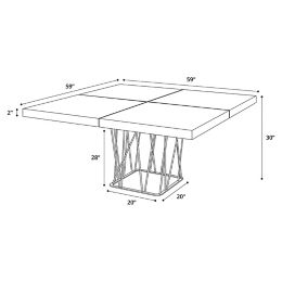 Modloft Clarges Dining Table Yliving
