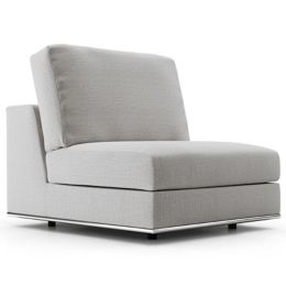 Groovy Perry Modular Armless Sofa Chair By Modloft At Lumens Com Customarchery Wood Chair Design Ideas Customarcherynet