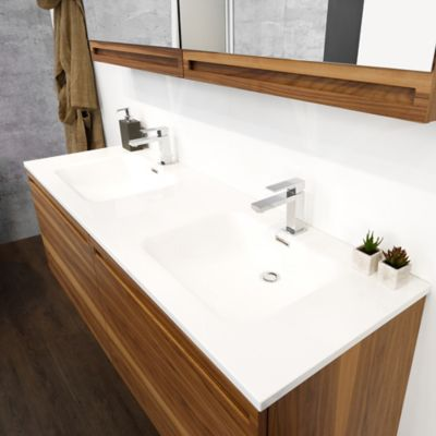Wetstyle Element Double Vanity And Sink | YLiving.com
