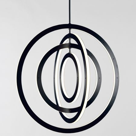 Roll And Hill Halo Vertical 4 Ring Pendant Light Ylighting