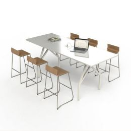 Scale Hot Spot Bar Height Conference Table YLivingcom - Height of a conference table