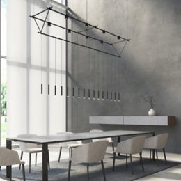Suspenders 8 Foot Tri Bar Truss Monoline Thin Cylinder Pendants And Power Precise Bar Mounted Cylinder
