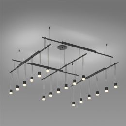 Suspenders 48 Inch 2 Tier Grid Led Lighting System Suspended Cylinder