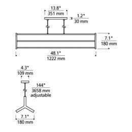 Tech Lighting Timbre Linear Suspension Light | YLighting.com on