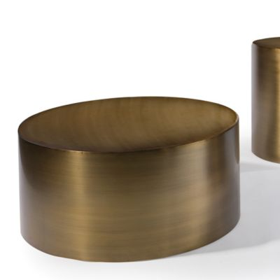Thayer Coggin Bronze Drum Table | YLiving.com