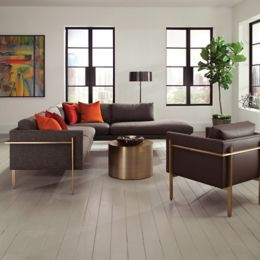 Thayer Coggin Bronze Drum Table | YLiving.com